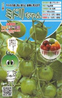 ミニトマトの種【ミドリちゃん】〔F1〕 ※無消毒