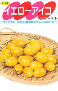 ミニトマトの種【イエローアイコ】〔F1〕