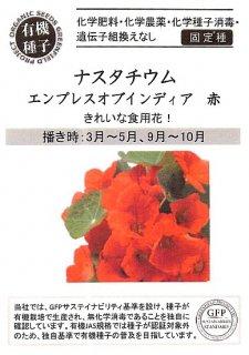 ナスタチウム(キンレンカ)【エンプレス オブ インディア(赤)】の種〔有機種子・固定種〕 ※無消毒