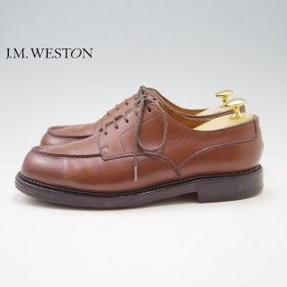 JM.ウェストン 5E【旧ロゴ★ゴルフ/GOLF/641】Uチップ/カーフ/茶/メンズ/Weston/ウエストン★a075