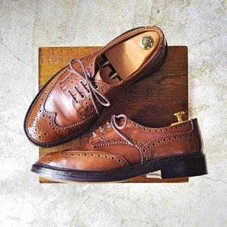 極上★トリッカーズ SIZE 8【BOURTON/バートン/M5633】カントリーシューズ/短靴/フルブローグ/Tricker's★b681-7