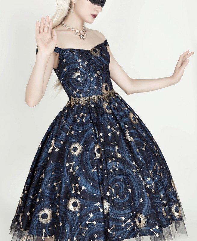 【取り寄せ】Starry Night ジャンパースカート(オフショルダー)【LA.LAERS】