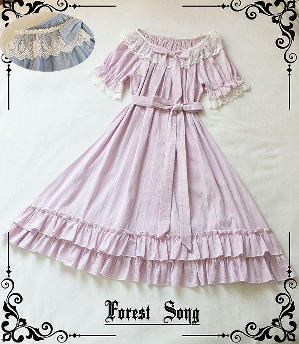 【即納】パフスリーブナイトウェア 【Forest Song】
