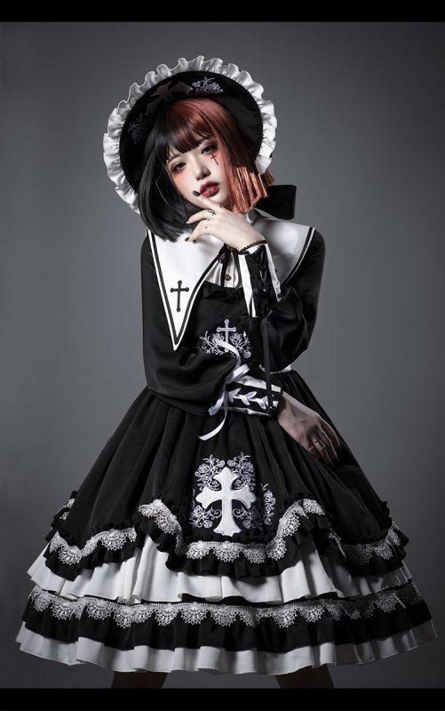 【即納】Eternal Night ワンピース・ヘッドドレスセット【YUPBRO】