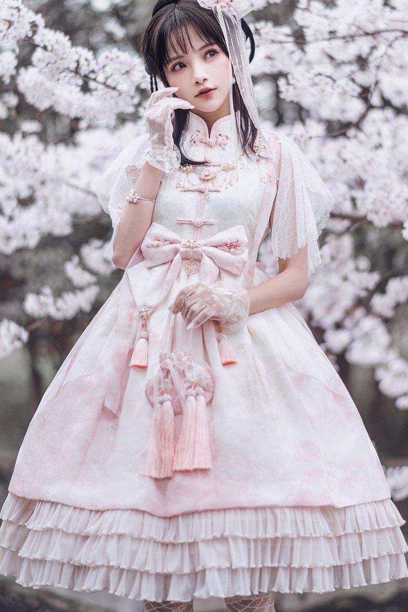 【取り寄せ】桜散るワンピース【Lullaby】