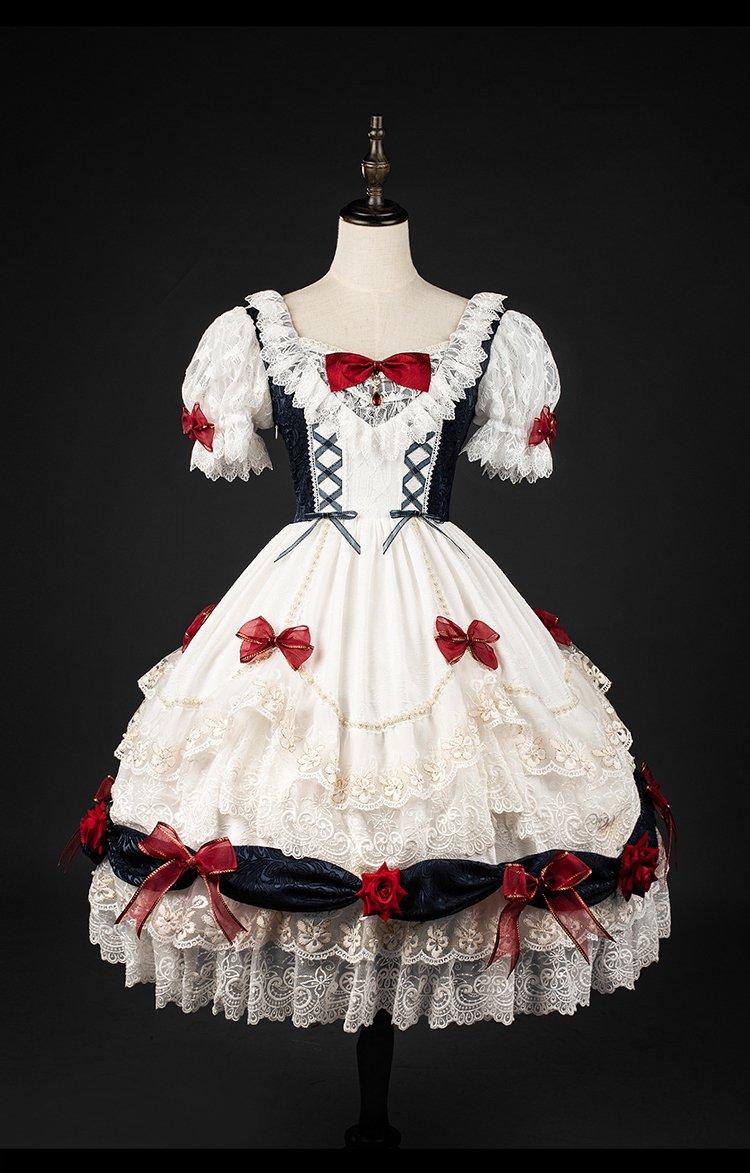 【即納】Snow White ワンピース・ヘッドドレスセット【YUPBRO】