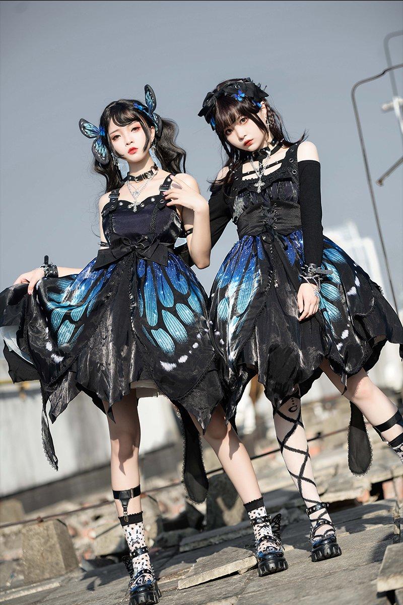 【即納】Butterfly Effectジャンパースカート【Star fantasy】