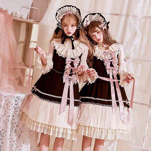 【即納】Parallel Doll ワンピース・ヘッドドレスセット【Grove Deer】