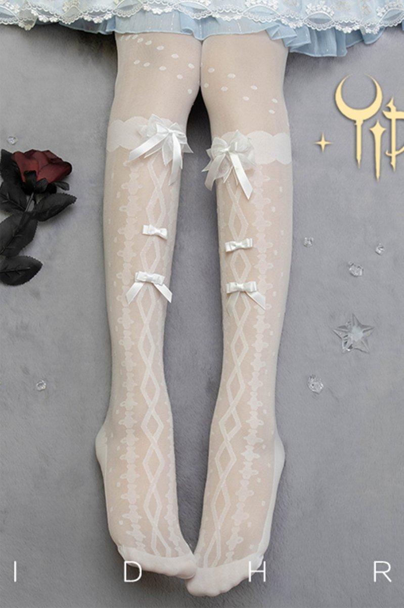 【即納】Flower's wedding dress オーバーニーストッキング【Yidhra】