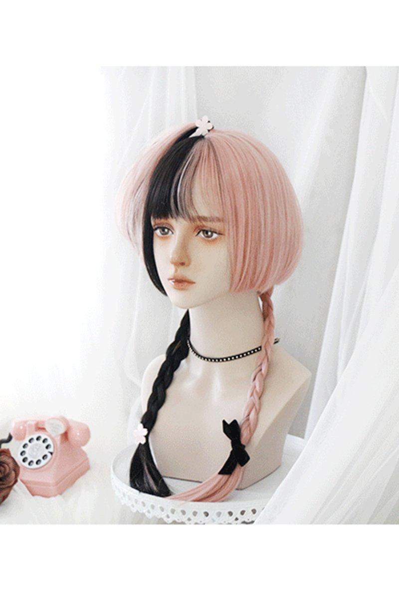 【即納】Punkish Girl ブラック×ピンクウィッグ【Pippi Palace】
