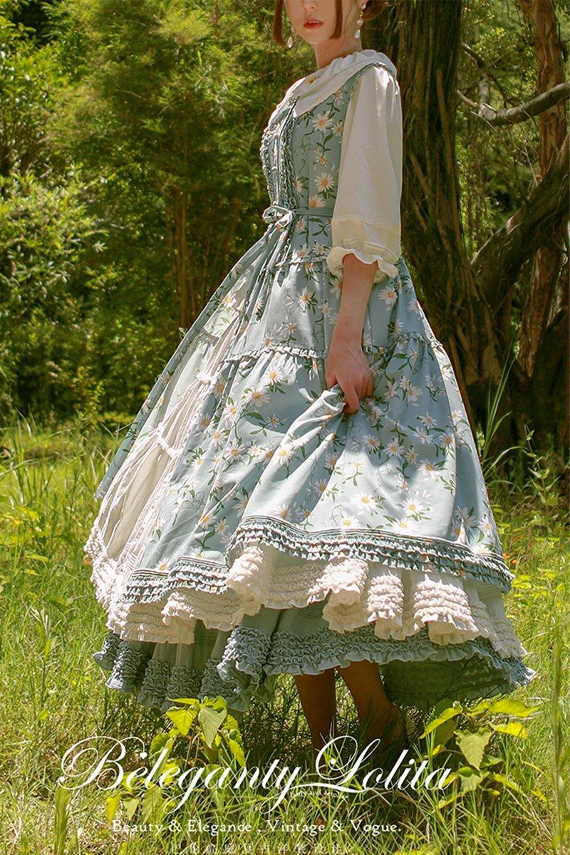 【取り寄せ】Little Daisy of Summer ジャンパースカート 【Beleganty】