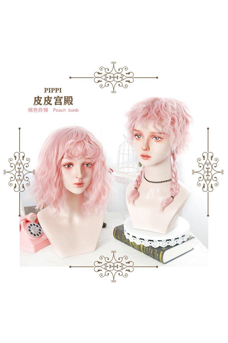 【即納】Pink Sisters ピンクウェーブウィッグ【Pippi Palace】