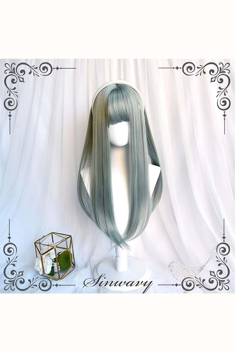 【即納】EMERALD GREEN ストレートウィッグ【SINWAVY】