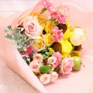 (プリザ)ピンク系花束