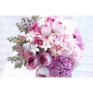 (プリザ)ピンクローズ小花のブーケ