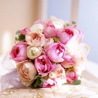 (プリザ)甘いピンクのオールドローズブーケ