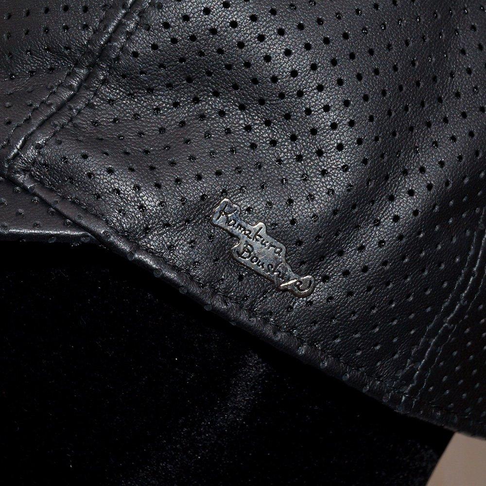 【鎌倉帽子屋】 レザーメッシュキャップ アウトレット 詳細画像9