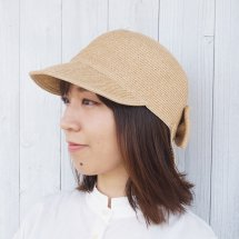 【鎌倉帽子屋】 リボンぺーパーブレードキャップ