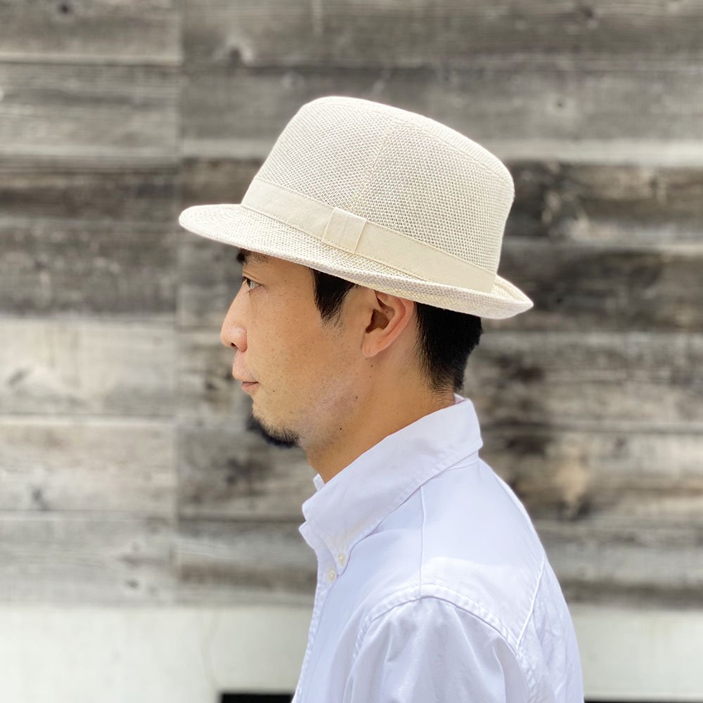 【鎌倉帽子屋】 麻アルペン/中折れハット 詳細画像13