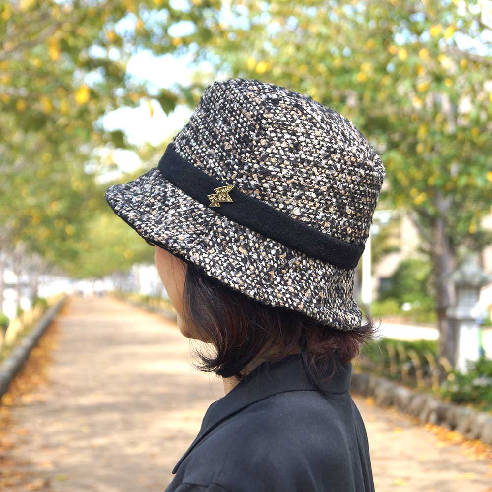 e-zoo(イーズー秋冬物) tweed handsome hat 詳細画像11