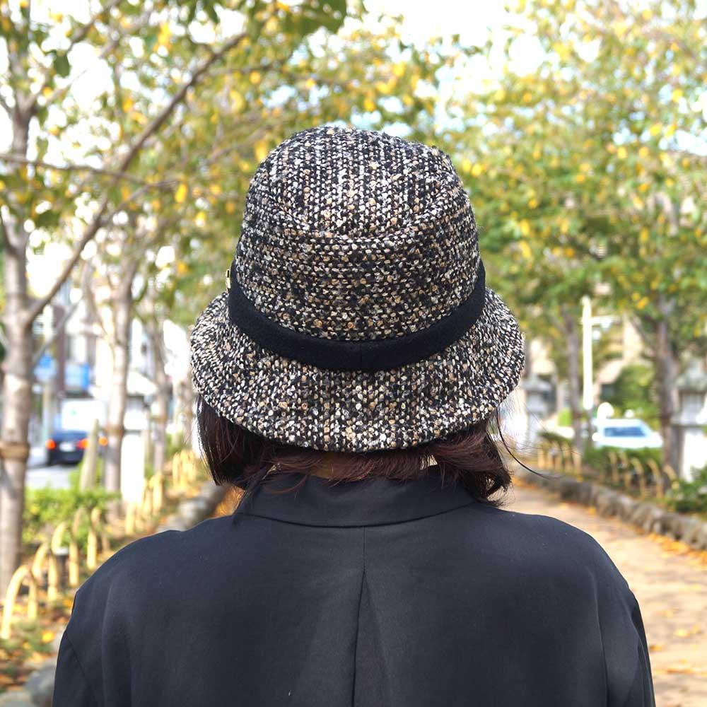 e-zoo(イーズー秋冬物) tweed handsome hat 詳細画像13