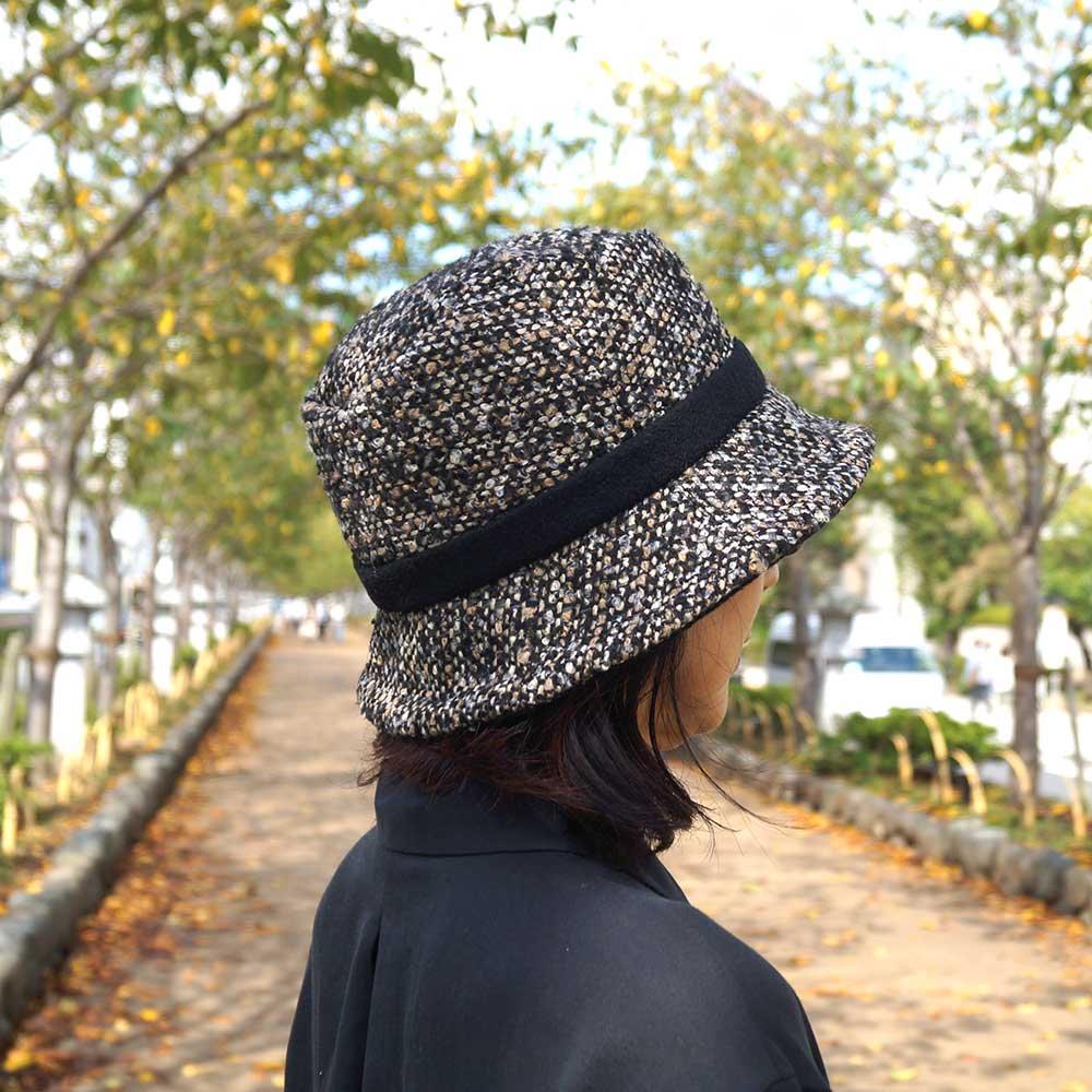 e-zoo(イーズー秋冬物) tweed handsome hat 詳細画像14