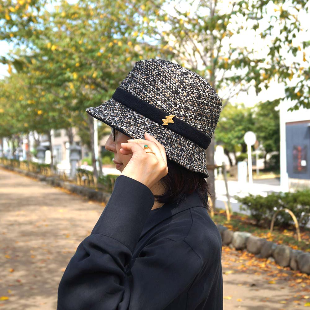 e-zoo(イーズー秋冬物) tweed handsome hat 詳細画像15