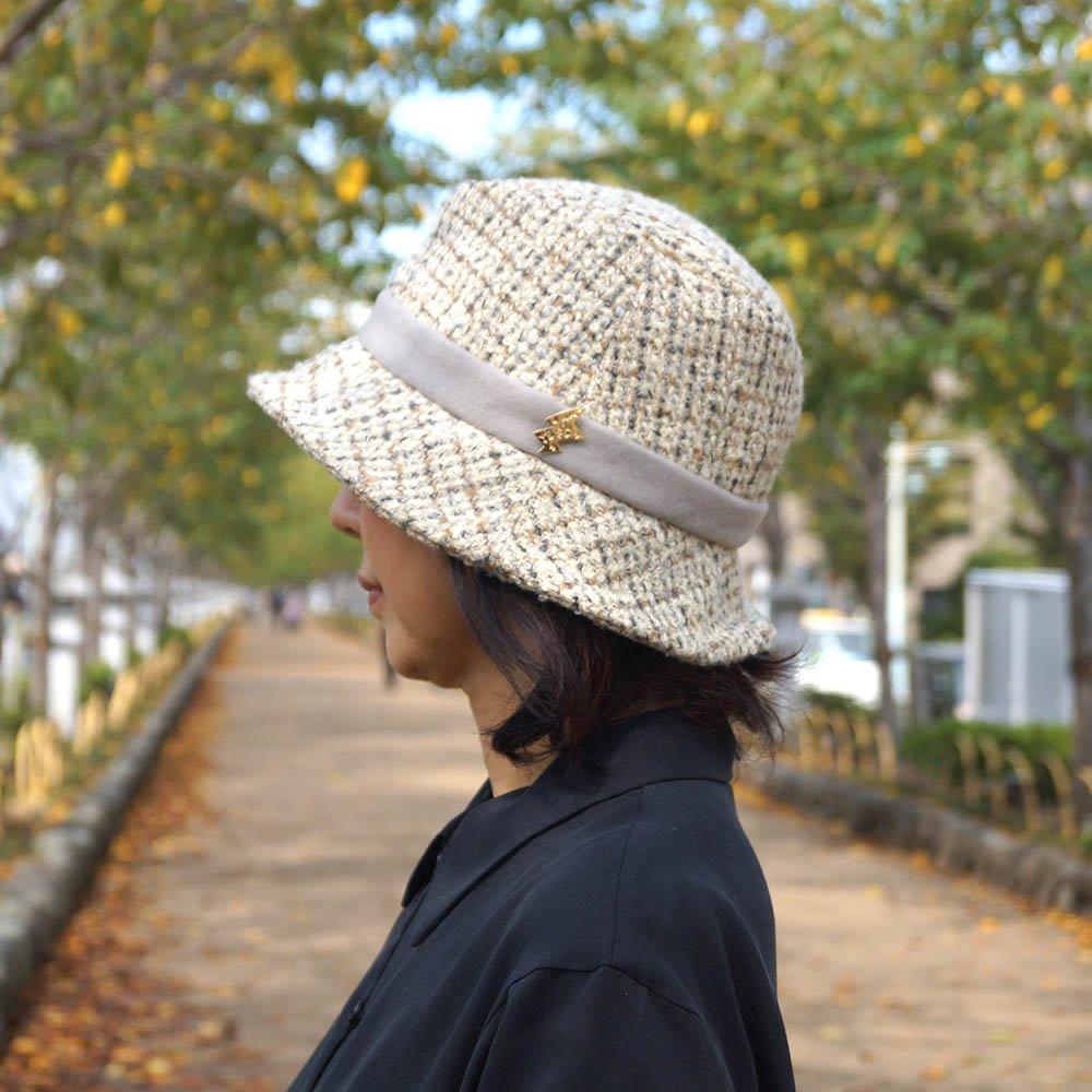 e-zoo(イーズー秋冬物) tweed handsome hat 詳細画像16