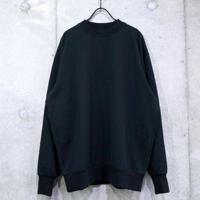 <img class='new_mark_img1' src='https://img.shop-pro.jp/img/new/icons11.gif' style='border:none;display:inline;margin:0px;padding:0px;width:auto;' />FLISTFIA Loose Fit Crew Neck Sweat BLACK