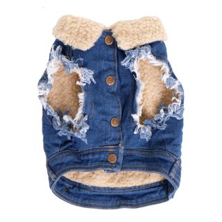 <img class='new_mark_img1' src='https://img.shop-pro.jp/img/new/icons57.gif' style='border:none;display:inline;margin:0px;padding:0px;width:auto;' />SHERPA LINED DENIM DOG VEST/ PETHAUS(シェルパラインデニム・ドッグベスト / ペットハウス)
