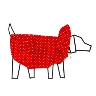 POLKA DOT ANORAK RAINCOAT - RED / WARE OF THE DOG(ポルカドット・アノラック・レインコート・レッド / ウェアオブザドッグ)