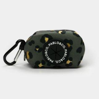 KHAKI LEOPARD POOPBAG HOLDER / PABLO & CO.(カーキレパードプープバッグホルダー / パブロ&コー)