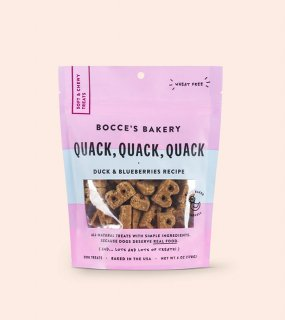 <img class='new_mark_img1' src='https://img.shop-pro.jp/img/new/icons5.gif' style='border:none;display:inline;margin:0px;padding:0px;width:auto;' />Quack, Quack, Quack Soft & Chewy Treats / BOCCE'S BAKERY(ソフト&チューイー・カモ&ブルーベリー)