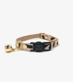 <img class='new_mark_img1' src='https://img.shop-pro.jp/img/new/icons5.gif' style='border:none;display:inline;margin:0px;padding:0px;width:auto;' />TIGGY LEATHER CAT COLLAR - BLACK / NICE DIGS