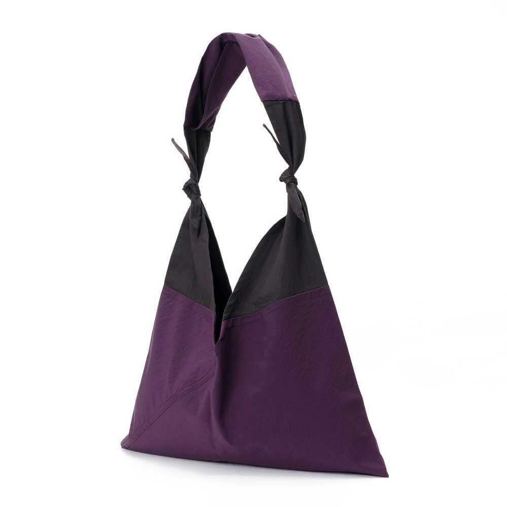 アヅマ バッグ x タスキ バッグ スタンダード スモール AZUMA BAG x TASUKI BAG STANDARD SMALL - PURPLE/EBONY