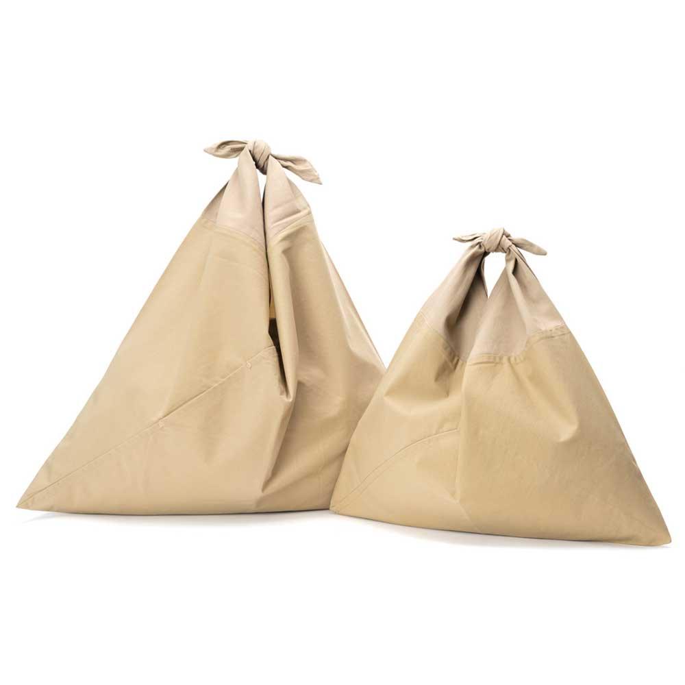 アヅマ バッグ プレーン ラージ AZUMA BAG PLAIN LARGE - BEIGE/BEIGE