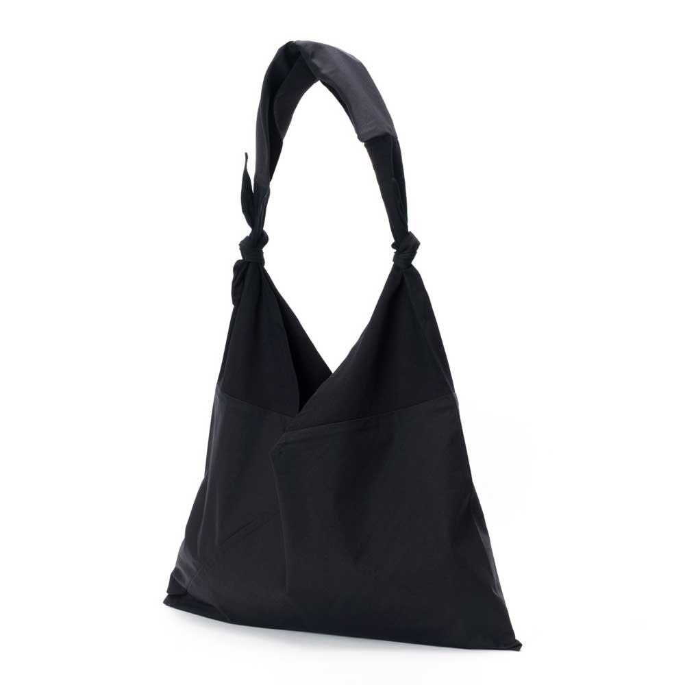 アヅマ バッグ x タスキ バッグ プレーン ラージ AZUMA BAG x TASUKI BAG PLAIN LARGE - BLACK/BLACK