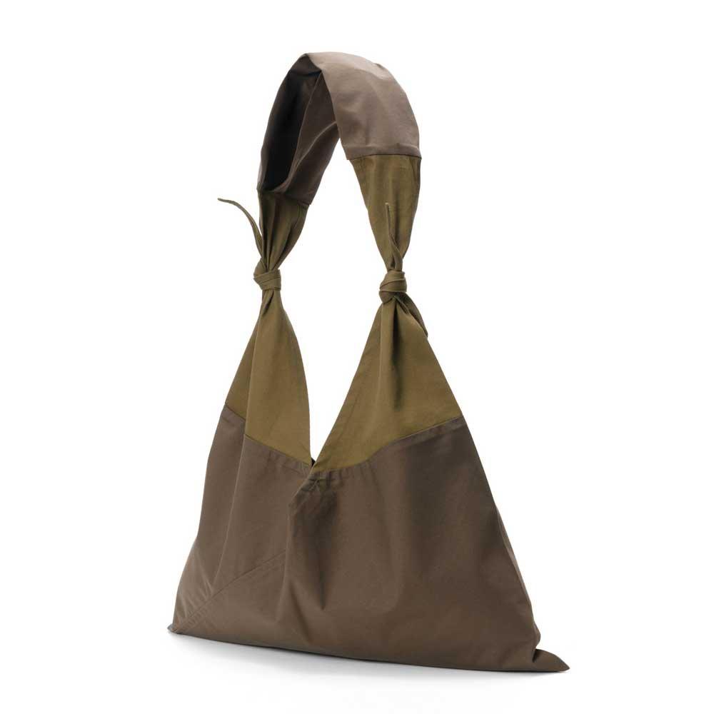 アヅマ バッグ x タスキ バッグ プレーン ラージ AZUMA BAG x TASUKI BAG PLAIN LARGE - OLIVE/OLIVE