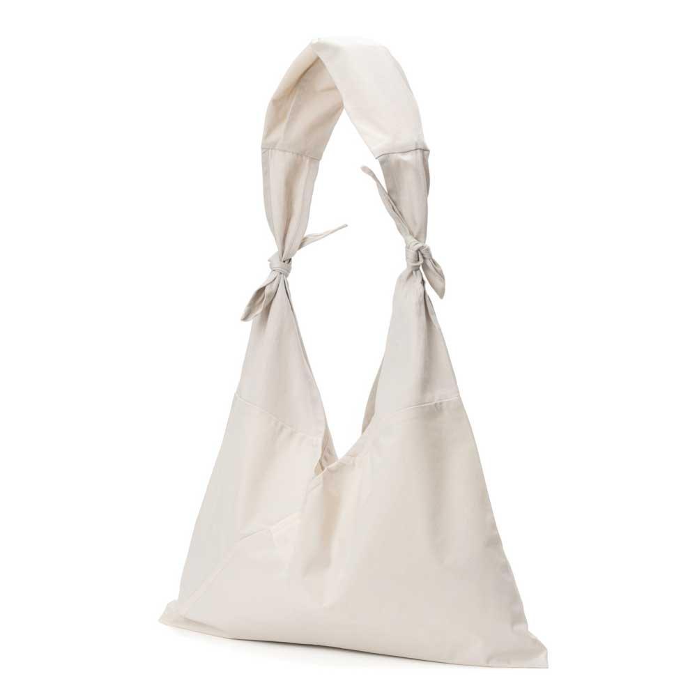 アヅマ バッグ x タスキ バッグ プレーン ラージ AZUMA BAG x TASUKI BAG PLAIN LARGE - IVORY/IVORY