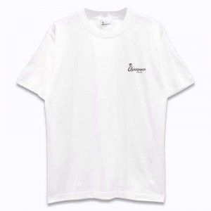 UPTOWN LOGO T-SH アップタウン ロゴ Tシャツ WHITE/BLACK