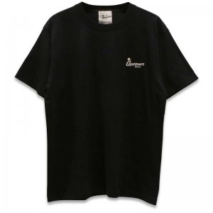 UPTOWN LOGO T-SH アップタウン ロゴ Tシャツ BLACK/WHITE