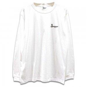 UPTOWN LOGO L/S T-SH アップタウン ロゴ L/S Tシャツ WHITE/BLACK