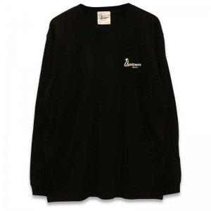 UPTOWN LOGO L/S T-SH アップタウン ロゴ L/S Tシャツ BLACK/WHITE