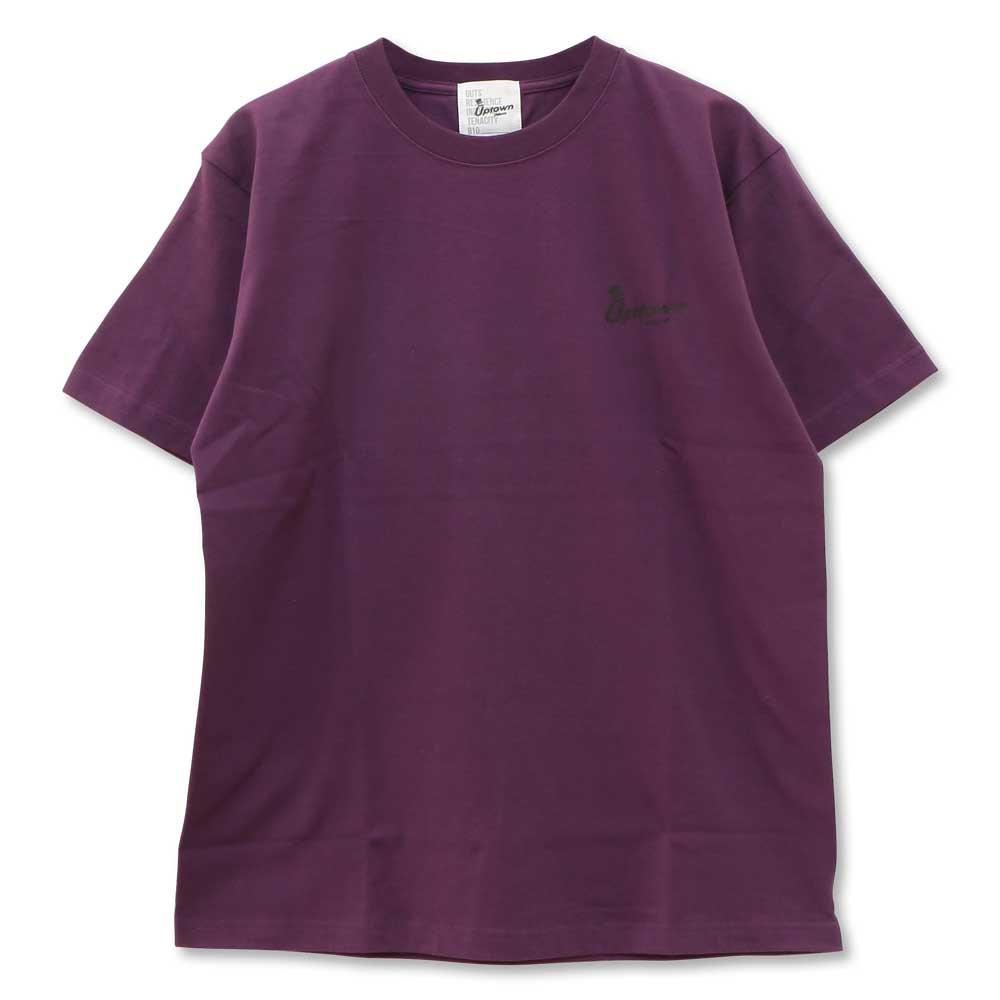 UPTOWN LOGO T-SH アップタウン ロゴ Tシャツ MAD PURPLE/BLACK