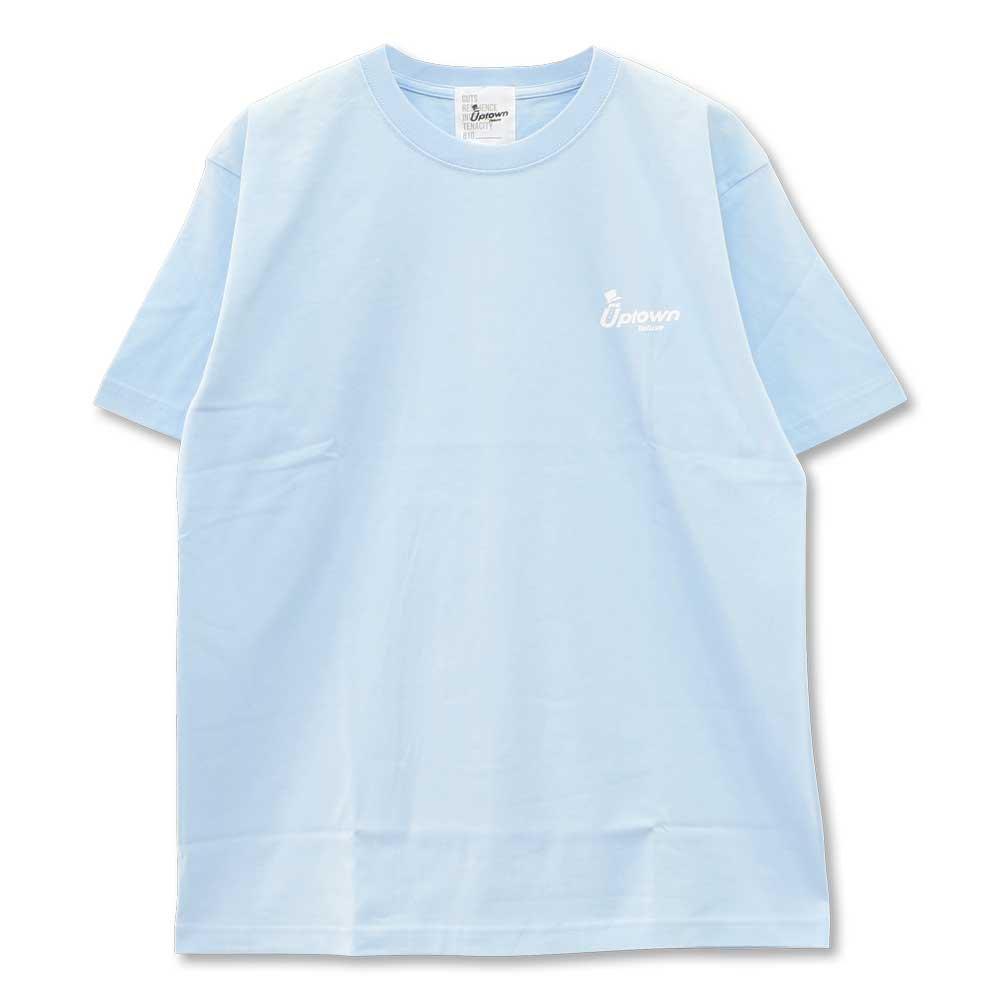 UPTOWN LOGO T-SH アップタウン ロゴ Tシャツ LIGHT BLUE/WHITE