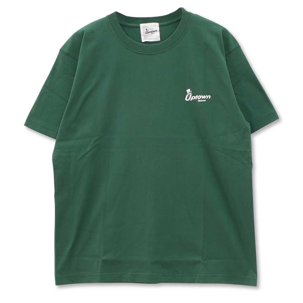 UPTOWN LOGO T-SH アップタウン ロゴ Tシャツ IVY GREEN/WHITE
