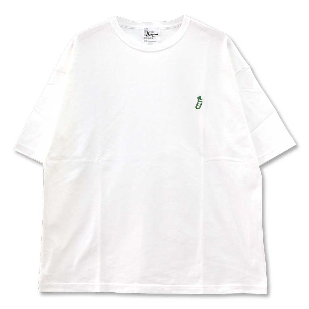 UPTOWN BIG Tee ONE POINT アップタウン ビッグ Tシャツ ワンポイント WHITE/GREEN