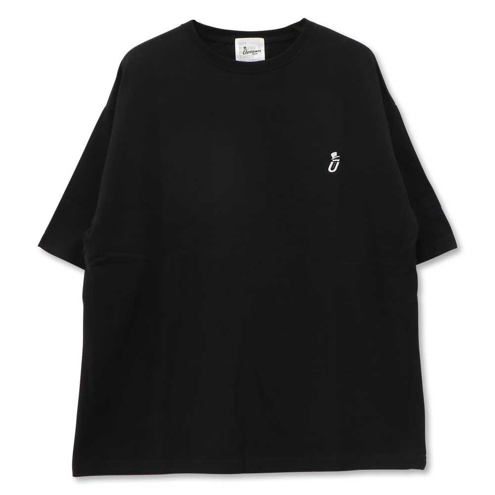 UPTOWN BIG Tee ONE POINT アップタウン ビッグ Tシャツ ワンポイント BLACK/WHITE