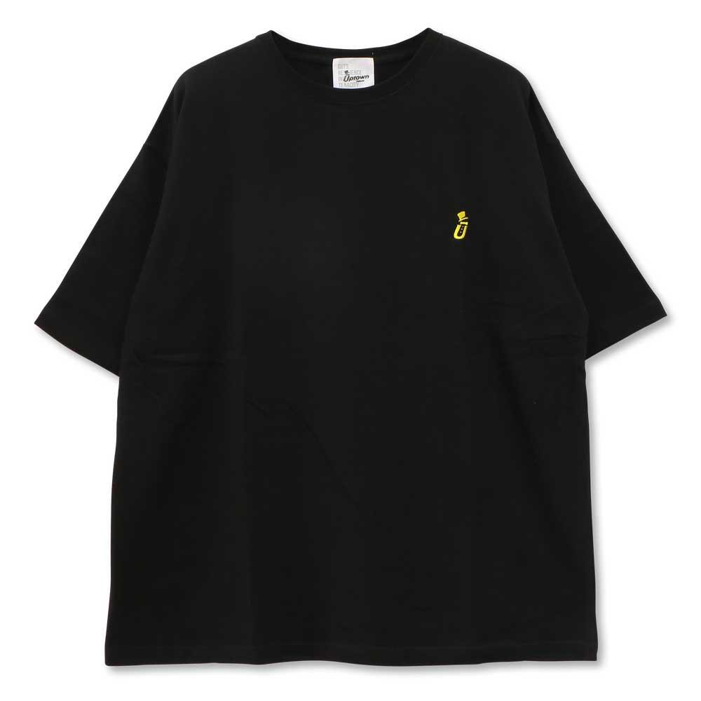 UPTOWN BIG Tee ONE POINT アップタウン ビッグ Tシャツ ワンポイント BLACK/YELLOW