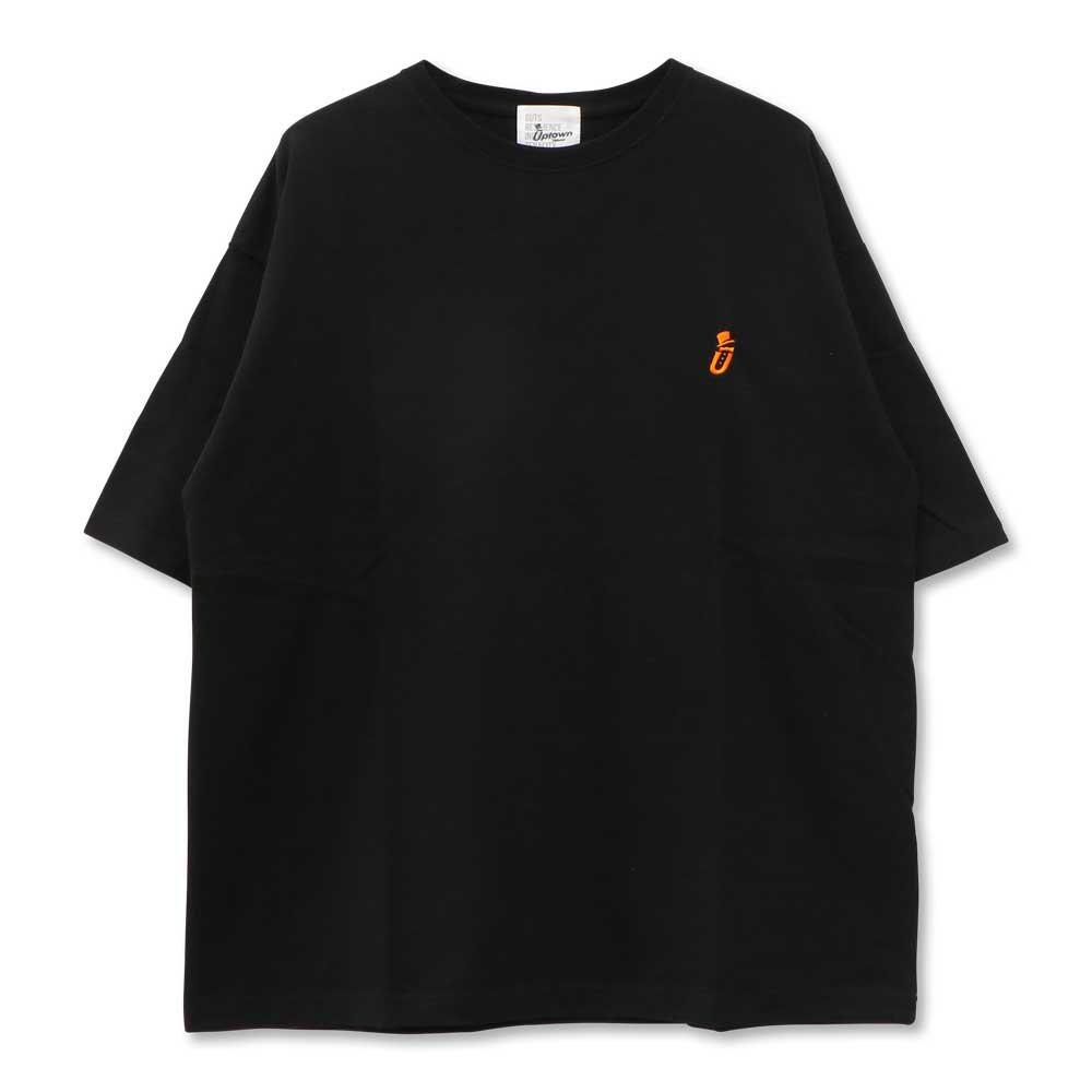 UPTOWN BIG Tee ONE POINT アップタウン ビッグ Tシャツ ワンポイント BLACK/ORANGE